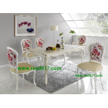 Dining table set Racoco MSL finish